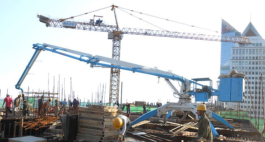 Hydraulic Concrete Placing Boom