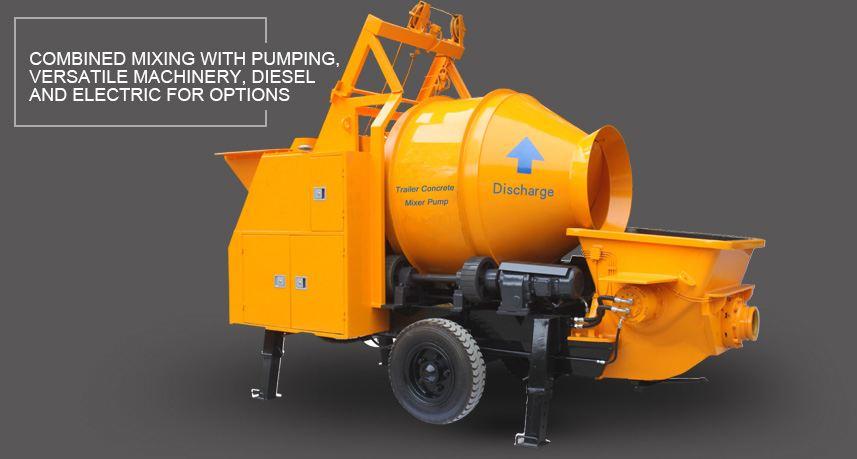 Concrete Mixer With Pump Hbt Concrete Mixer Mixer Pumps
