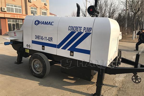 Low Price Small Size Concrete Pump for Saudi Arabia