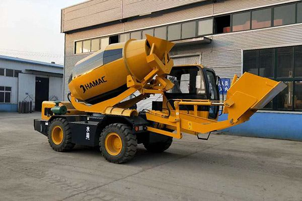 Self-loading Mobile Concrete Mixer