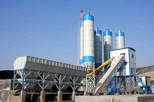 HZN90 concrete batching plant in Saudi Arabia