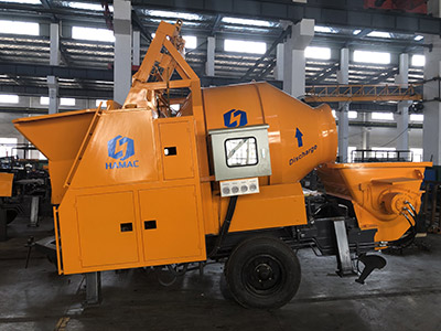 DHBT15 Diesel Engine Concrete Mixer with Pump was sent to South America on August 6th