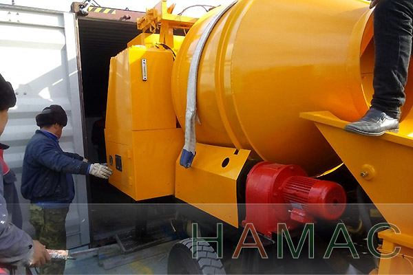 Concrete Mixer With Pump Delivered To Saudi Arabia